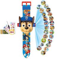 儿童投影手表佩琪奥特曼卡通小学生男女孩电子玩具节日礼物 翻盖阿奇 【赠4件套】