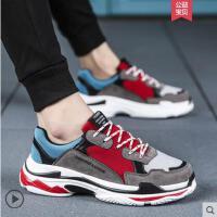 新款男鞋子韩版潮流男士运动休闲板鞋跑步潮鞋百搭老爹鞋网红同款时尚户外新品