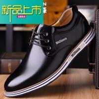 新品上市男鞋冬季皮鞋男士真皮商务青年韩版休闲鞋加绒保暖棉鞋子男