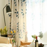 窗帘布料定制简约现代短帘客厅卧室飘窗韩式田园窗帘成品
