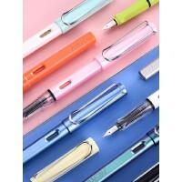 英雄钢笔359中小学生专用正姿书写墨囊钢笔成人办公用墨水笔女生孩儿童初学者练字专用糖果色铱金笔正品