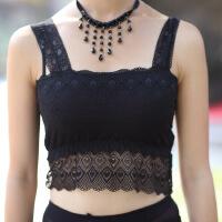 2016 新款女士 黑白内搭 双层蕾丝春季半截打底背心 吊带 裹胸