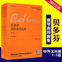 【维也纳原始版】正版贝多芬钢琴奏鸣曲集第123册全套 附中外文对照 上海教育出版社 贝多芬钢琴奏鸣曲集练习曲教程教材书