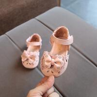 2018夏季新款女童半凉鞋包头0-1-2-3岁女宝宝凉鞋软底韩版公主鞋