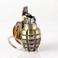 充气打火机 砂轮明火 钥匙扣 创意手雷造型打火机 喷漆