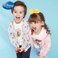 【2件3折后价:44.7元】迪士尼童装宝宝装男女童梭织涂鸦皮肤衣2019新款儿童上衣中小童