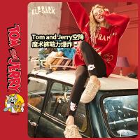 【直降后到手价:63】【猫和老鼠联名】妖精的口袋加绒休闲裤2020春季新款女铅笔裤子潮