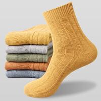 男士秋冬中筒袜子加厚保暖粗线户外男运动袜吸汗全棉长袜