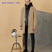 GXGX BLUE ERDOS联名款秋季新品时尚潮流黑色直筒休闲长裤男