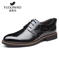 FGN/富贵鸟男鞋商务正装真皮鞋男英伦低帮休闲男士婚鞋头层牛皮鞋B597721