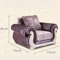 欧式布艺沙发套装简欧布沙发实木雕花沙发客厅家具小户型组合l