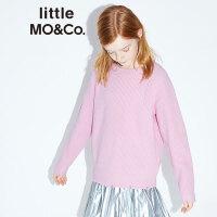 littlemoco儿童毛衣针织衫秋季新品破洞烂边羊毛衫男童女童针织衫