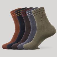 男士袜子商务休闲中筒袜子棉质秋冬款男袜吸汗中长腰棉袜