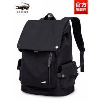 鳄鱼男士双肩包大容量商务休闲电脑背包旅行简约学生时尚潮流书包