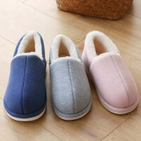 冬季棉拖鞋女居家包根保暖舒适厚底月子鞋情侣室内棉鞋男