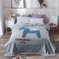 冬季云毯双层加厚拉舍尔毛毯婚庆毯子单人双人珊瑚绒午睡空调毯y