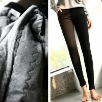 脚踩打底棉裤外穿冬季新款加厚加绒东北保暖棉紧身裤子女 黑色