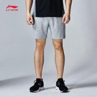 李宁短裤短卫裤男士2017新款运动生活系列夏季针织运动裤AKSK117