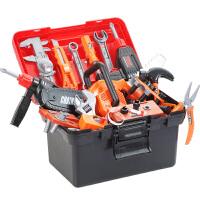 �和�工具箱玩具套�b男孩仿真�S修��@多功能修理箱�����Q螺�z�M�b �S修工具套�b ��涌�+工具箱(共43件)