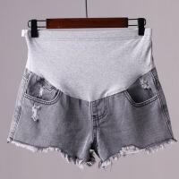 夏季外穿打底裤子孕妇裤夏天薄款破洞牛仔短裤宽松夏装孕妇短裤