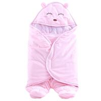 新生婴儿抱被睡袋两用冬季加厚外出款保暖初生宝宝防惊跳包被