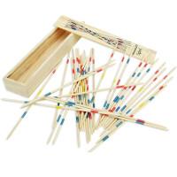 竹签游戏 木制挑棒撒棍挑竹签亲子互动桌面游戏棒80后怀旧经典儿童玩具