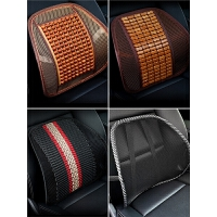 汽车腰靠垫木珠护腰按摩夏季腰垫司机座椅腰枕靠枕靠背车用