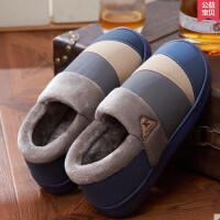女拖鞋男式拖鞋秋冬季情侣棉拖鞋防滑毛毛绒全包跟鞋月子鞋保暖厚底居家鞋