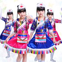 儿童藏族演出服女童蒙古族少儿少数民族舞蹈衣服幼儿水袖表演服装