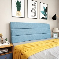 可拆洗布艺床头靠垫 实木床头罩套 软包海绵大靠垫床头靠背垫软包