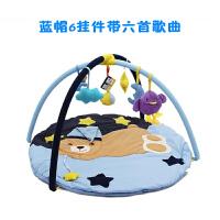 婴儿健身架脚踏钢琴宝宝音乐游戏毯垫新生儿玩具0-3-6-12个月c