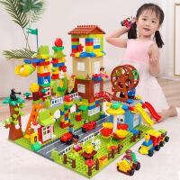 【限时抢】糖米 积木玩具兼容乐高拼装大颗粒1-2-4女孩3-6周岁男孩子儿童益智城市