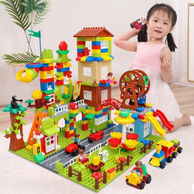 【限时抢】糖米 积木玩具兼容乐高拼装大颗粒1-2-4女孩3-6周岁男孩子儿童益智城市 【现在已停止发货,2月1日恢复发货】