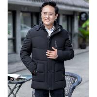 冬季中年爸爸男装冬装外套中老年人男士棉袄加绒加厚棉衣
