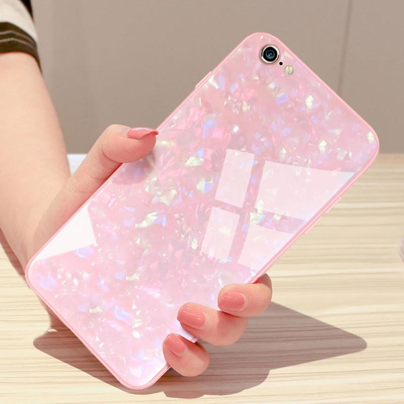 苹果6s手机壳iPhone6硅胶6splus新款女潮7plus玻璃壳8plus防摔六s仙女贝壳网红6p女全包个性创意i8时尚潮ins