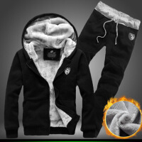 【秋冬新品】13学生14冬装16岁初中生卫衣男童加绒套装男孩运动服洋气加厚外套