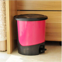 5.5L脚踏式环保垃圾桶/卫生桶创意 家用卫生间厨房客厅卧室有盖