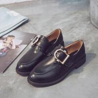 厂家直销2019春季新款英伦风小皮鞋女式低跟学院风休闲低帮单鞋女