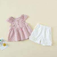 女童套装两件套裙子潮童装洋气时髦小女孩女宝宝夏装