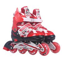 溜冰鞋儿童全套装男女旱冰鞋轮滑鞋冰鞋可调闪光