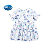 迪士尼女童连衣裙2020新款夏季中大童儿童公主裙子夏装潮洋气童装