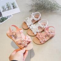 儿童花朵凉鞋女童鞋魔术贴公主凉鞋夏季