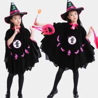 斗篷女童黑猫披风装服装儿童魔法女巫师表演服巫婆服装