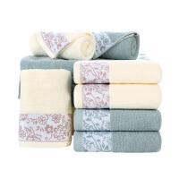 毛巾纯棉面巾 2条 城市花园 加厚情侣毛巾洗脸帕