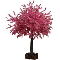 仿真桃花树樱花树落地摆设仿真桃树婚庆装饰大堂酒店商场许愿树