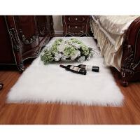 长毛绒床边地毯卧室客厅家用飘窗地垫房间仿羊毛满铺灰色圆形