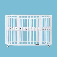婴儿床宝宝婴儿圆床新生儿双胞胎多功能实木床可拼接大床