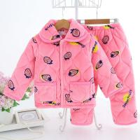 长袖家居服女童秋冬季珊瑚绒冬天加厚中大童套装小孩睡衣