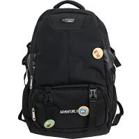 双肩包男潮牌韩版高中学生书包大容量出差旅行15.6寸电脑背包女潮