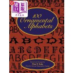 【中商海外直订】100 Ornamental Alphabets